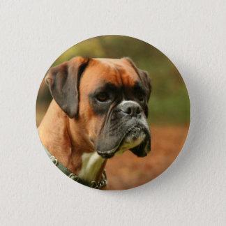 Jolie in the woods 6 cm round badge