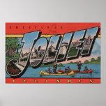 Joliet, Illinois - Large Letter Scenes Poster