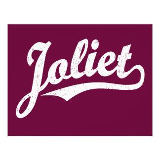 Joliet script logo in white distressed 21.5 cm x 28 cm flyer