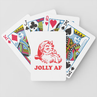 Jolly AF - funny santa christmas Bicycle Playing Cards