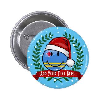 Jolly Aruba Flag Christmas Style 6 Cm Round Badge