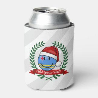 Jolly Aruba Flag Christmas Style Can Cooler
