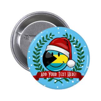 Jolly Bahamas Flag Christmas Style 6 Cm Round Badge