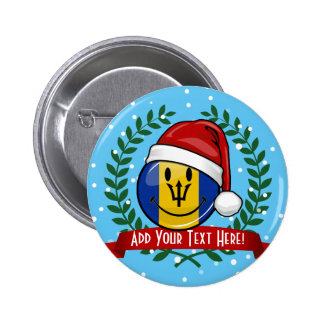 Jolly Barbados Flag Christmas Style 6 Cm Round Badge