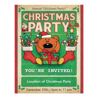 Jolly Bear Christmas Party 21.5 Cm X 28 Cm Flyer