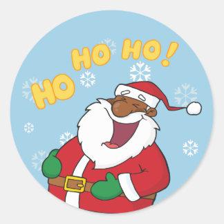 Jolly Black Saint Nicholas Classic Round Sticker