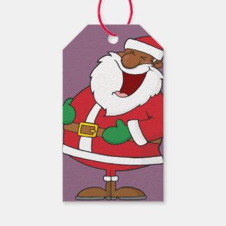 Jolly Black Saint Nicholas Paper Gift Tag