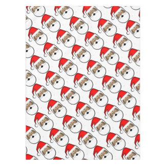 Jolly Black Santa Tablecloth