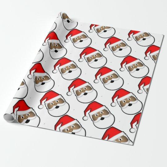Jolly Black Santa Wrapping Paper