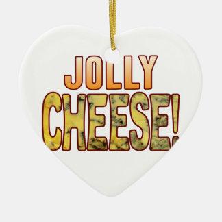 Jolly Blue Cheese Ceramic Heart Decoration