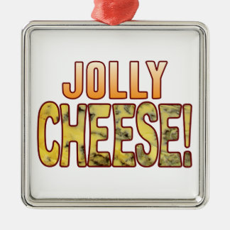 Jolly Blue Cheese Silver-Colored Square Decoration