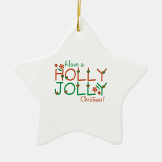 Jolly Christmas Ceramic Star Decoration