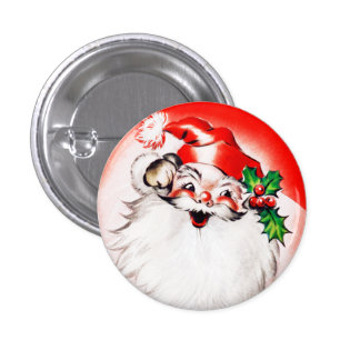 Jolly Christmas Greetings 3 Cm Round Badge