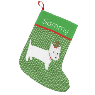 Jolly Christmas West Highland Terrier Small Christmas Stocking