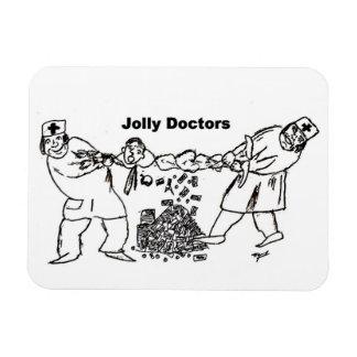 Jolly Doctors fridge magnet