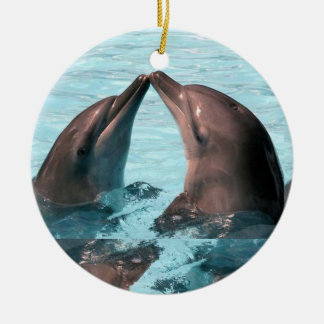 Jolly Dolphins Round Ceramic Decoration