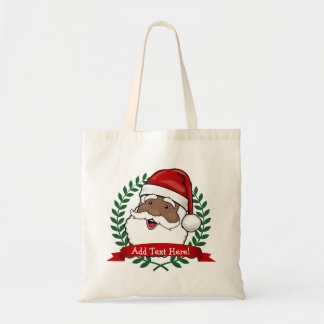 Jolly Ethnic Santa Custom Tote Bag