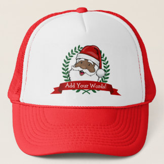 Jolly Ethnic Santa Custom Trucker Hat