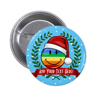 Jolly Gay Pride Flag Christmas Style 6 Cm Round Badge