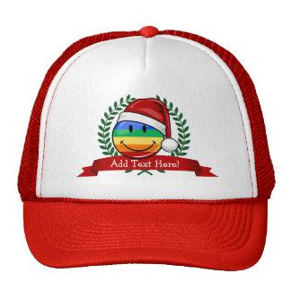Jolly Gay Pride Flag Christmas Style Cap