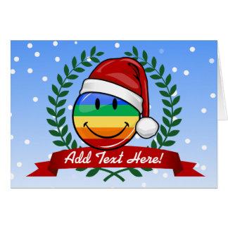 Jolly Gay Pride Flag Christmas Style Greeting Card