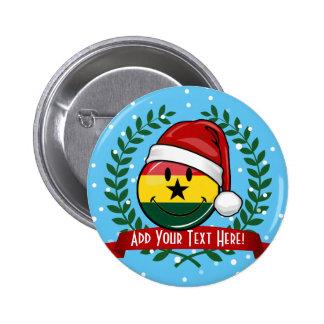 Jolly Ghanian Flag Christmas Style 6 Cm Round Badge