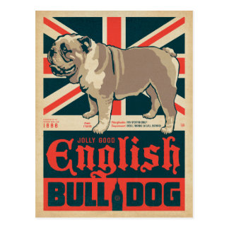 Jolly Good English Bulldog Postcard
