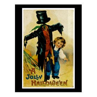 Jolly Halloween Scarecrow Post Card