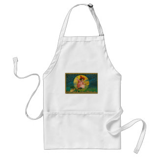 Jolly Halloween Vintage Witch Standard Apron
