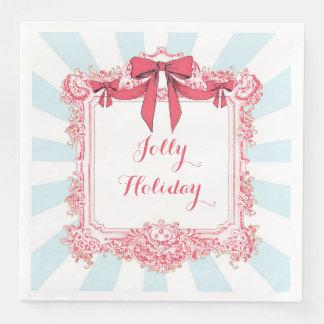 Jolly Holiday Ribbons and Bows Napkins Paper Napkin