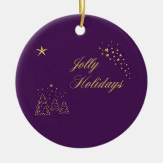 Jolly Holidays Golden Sparkle Christmas Ornament