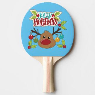 Jolly Holidays Ping Pong Paddle