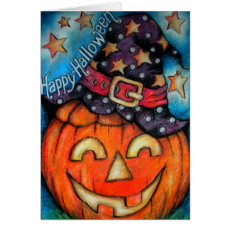 Jolly Jack - Witchy Boo - Happy Halloween Greeting Card