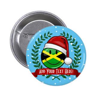 Jolly Jamaican Flag Christmas Style 6 Cm Round Badge