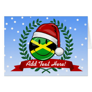 Jolly Jamaican Flag Christmas Style Card