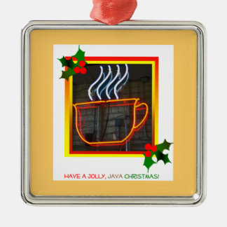 Jolly Java Xmas Silver-Colored Square Decoration