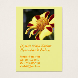 Jolly Jester Marigold - Mom calling cards template