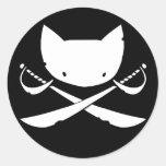 Jolly Kitty Pirate Stickers