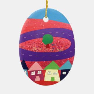 Jolly Metroplois Ceramic Oval Decoration