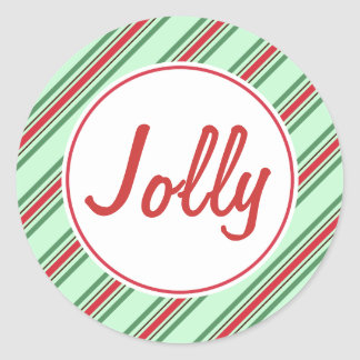 Jolly Mint Christmas Stickers