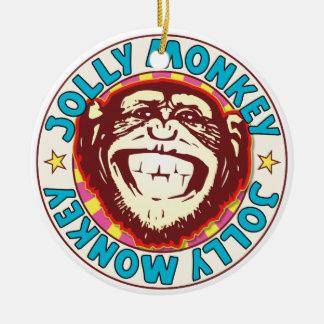 Jolly Monkey Round Ceramic Decoration