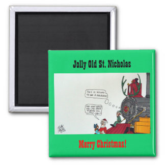 Jolly Old St. Nicholas Square Magnet