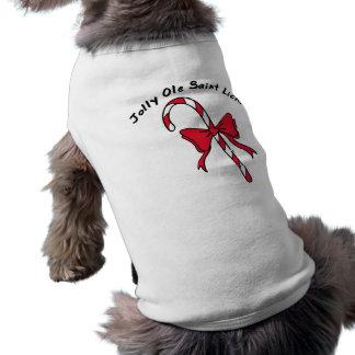 Jolly Ole Saint Lick Candy Cane Dog Shirt