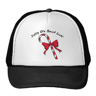 Jolly Ole Saint Lick Candy Cane Mesh Hat