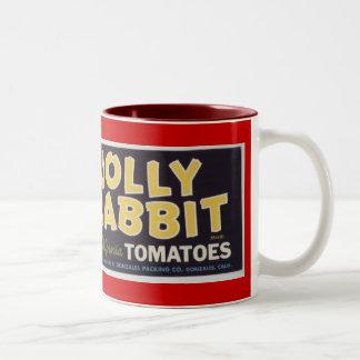 Jolly Rabbit Tomatoes Coffee Mugs