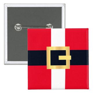 Jolly Red Christmas Santa Designs 15 Cm Square Badge