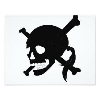 Jolly Roger #1-Black 11 Cm X 14 Cm Invitation Card