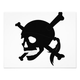 Jolly Roger 1-Black Personalized Announcement