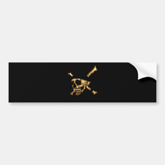 Jolly Roger #1-Burnt Car Bumper Sticker