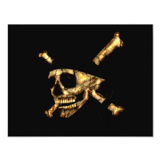 Jolly Roger #1-Burnt 11 Cm X 14 Cm Invitation Card